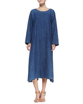 A-Line Denim Shift Dress