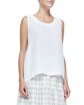 Sleeveless Side-Pleated Shell