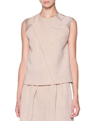 Front-Panel Draped Top