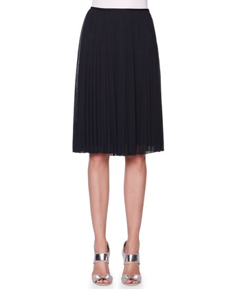 Full Plisse Crepe Skirt
