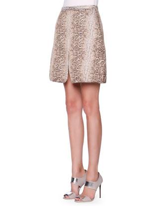 Snakeskin Jacquard Skirt