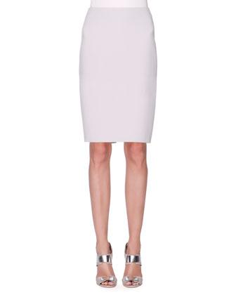 Wool-Blend Slim Skirt