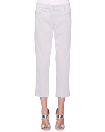 Stretch Twill Slim-Leg Pants