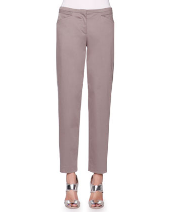 Polished Stretch Ankle Pants