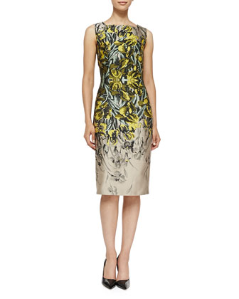 Iris Jacquard Sheath Dress