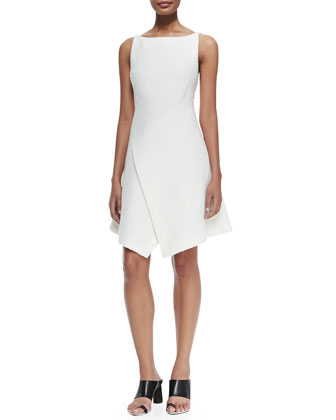 Sleeveless Dress W/ Scissor-Hem Front