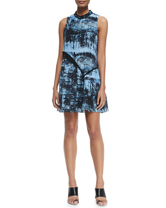 Printed Asymmetric-Tiered Dress
