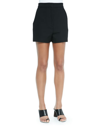 High-Waisted Shorts, Black
