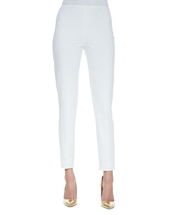 Bi-Stretch Cotton Annie Pants, Optic White