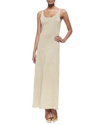 Linen Jersey Maxi Dress, Sand
