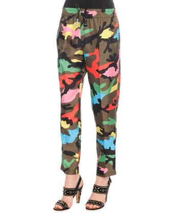 Multicolor Happy Camo Jogging Pants