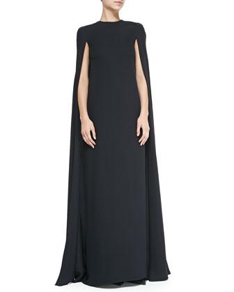 Silk Cape Gown