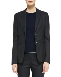 Skinny-Lapel Two-Button Jacket