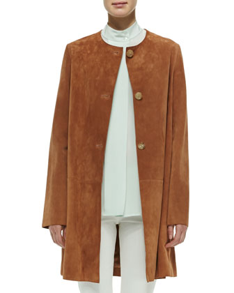 Mid-Length Suede Jacket