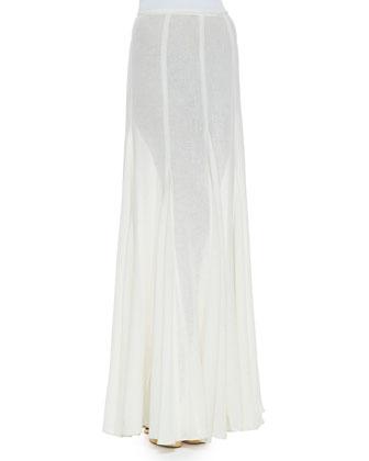 Semisheer Linen Maxi Skirt