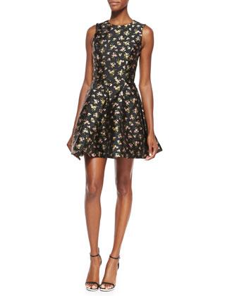 Floral Flirt Dress, Black/Oleander