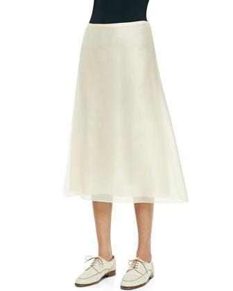 Flowy Chiffon Midi Skirt