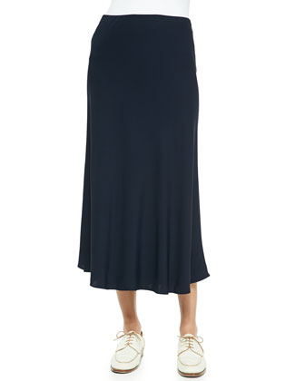 Long Bias-Cut Skirt