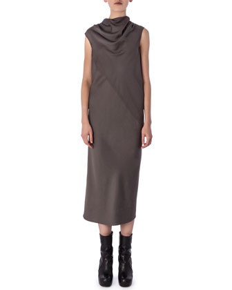 Bonnie High-Neck Sleeveless Dress