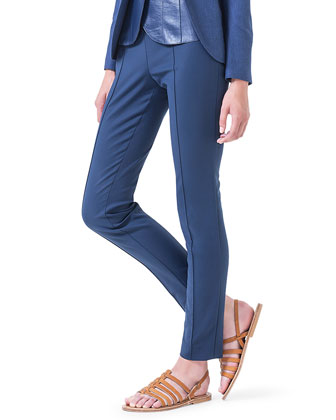 Melissa Slim-Fit Techno Pants, Lapis Lazuli