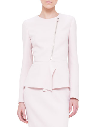 Double-Faced Peplum Jacket, Dolomite