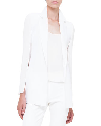 Slit-Sleeve Double-Faced Jacket, Calcite