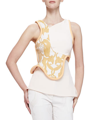 Free-Form Embroidered Pieced Top