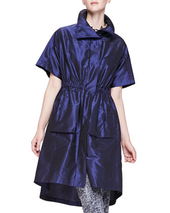 Short-Sleeve Iridescent Anorak
