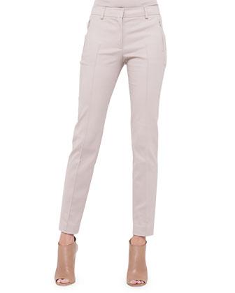 Fabia Zip-Pocket Slim-Fit Pants, Corde