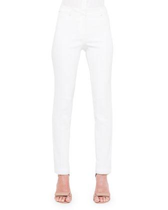 Fabiana Techno Cotton Pants, Creme