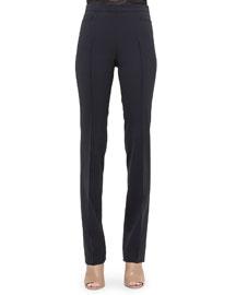 Francoise Straight-Leg Pants, Noir