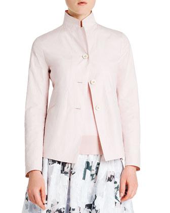 Reversible Tech/Cotton Three-Button Jacket