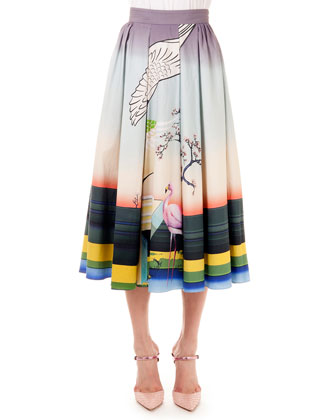 Bowles Flamingo Long Skirt