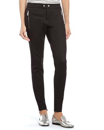 Black Stretch Cotton Skinny Pant