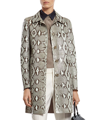 Mint Green Python Coat