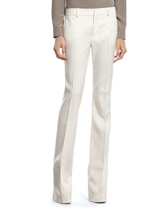 White Wool 60's Flare Pant