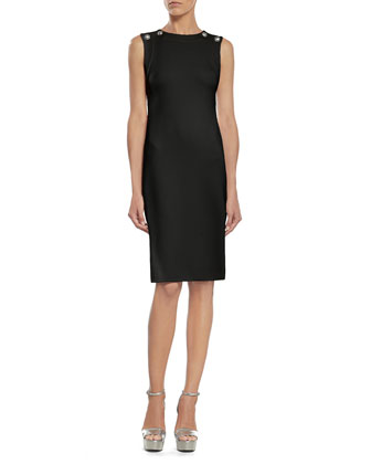 Black Stretch Viscose Dress