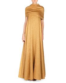 Saliana Linen-Blend Net Dress