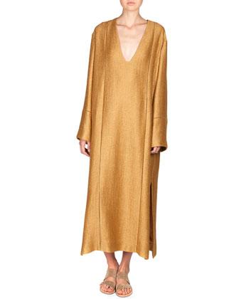 Anais Linen-Blend Dress