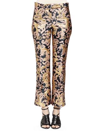 Golden Monkey Brocade Pants