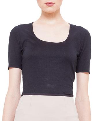 Scoop-Neck Jersey T-Shirt