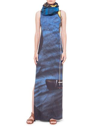 Guitar-Print Ankle-Length Dress