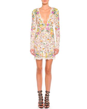 Poppy Rocks Long-Sleeve Lace Dress