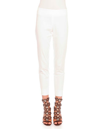 Clean-Front Capri Pants