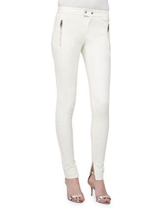 Zip-Pocket Skinny Pants