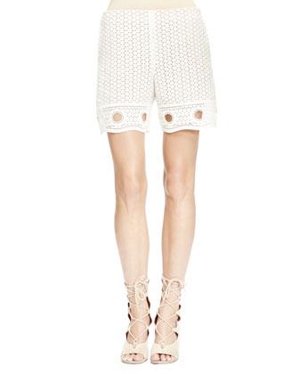 Eyelet Lace Shorts, Milk