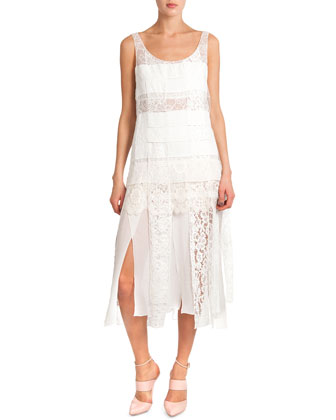 Sleeveless Lace Dress W/ Car Wash Skirt