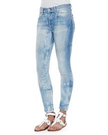 400 Matchstick Distressed Denim Jeans, Seaspray
