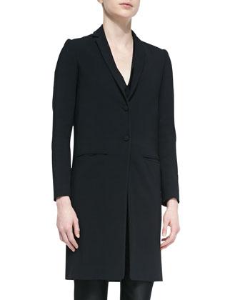 Aljana Long Cardigan Jacket, Black
