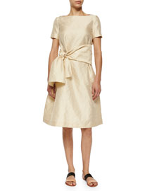 Jivon Self-Tie Sash Fit-And-Flare Dress
